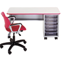 Cascade™ Teachers Desk - Single Cabinet, Open