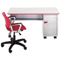 Cascade™ Teachers Desk - Single Cabinet with Door