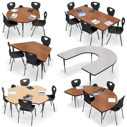 MooreCo®  Adjustable Activity Tables