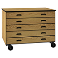 IRONWOOD Science Mobile Drawer Storage