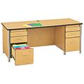 Jonti-Craft® Berries® Double Pedestal Instructor's Desk - 66