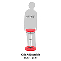 Kore™ Antimicrobial Adjustable Wobble Chair - 16-1/2