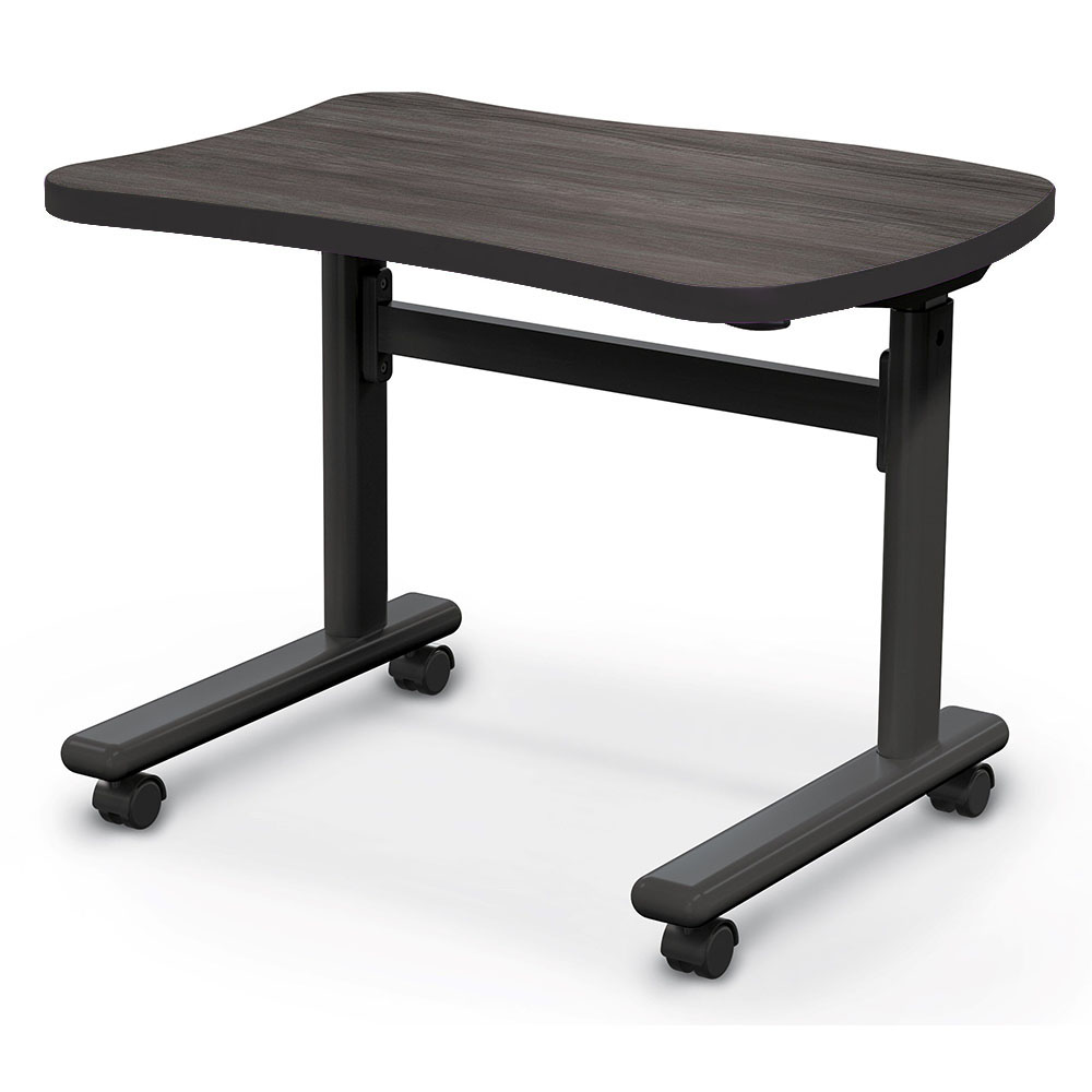 MooreCo™ Height Adjustable Flipper Desk - Beluga