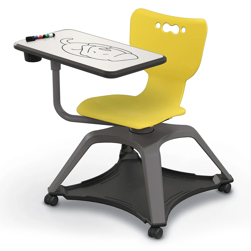 MooreCo™ Hierarchy Enroll™ Tablet Chair - Porcelain Surface
