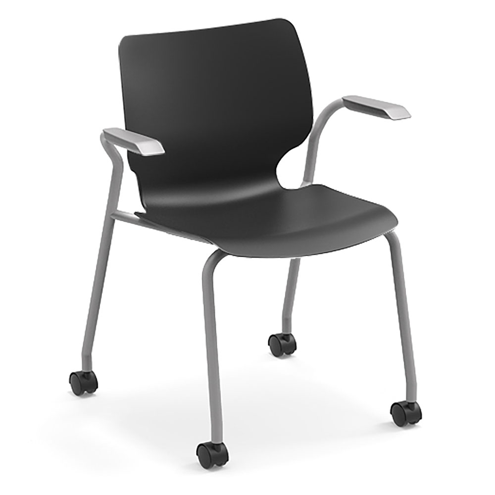 SMITH SYSTEM® Theorem™ Mobile Stack Chair w/ Arms