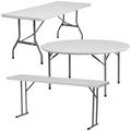 Granite White Plastic Folding Tables