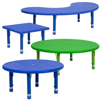 Height Adjustable Preschool Activity Tables