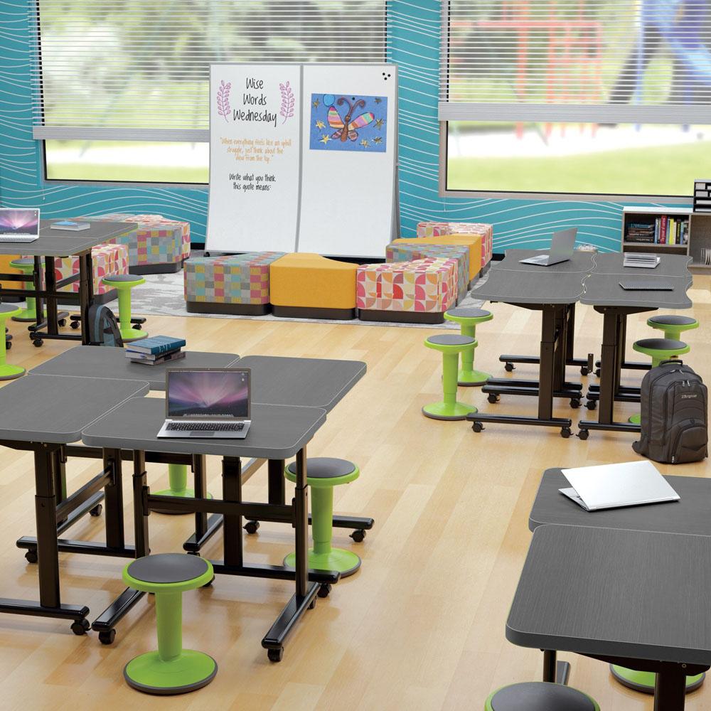 MooreCo®  Height Adjustable Flipper Desks