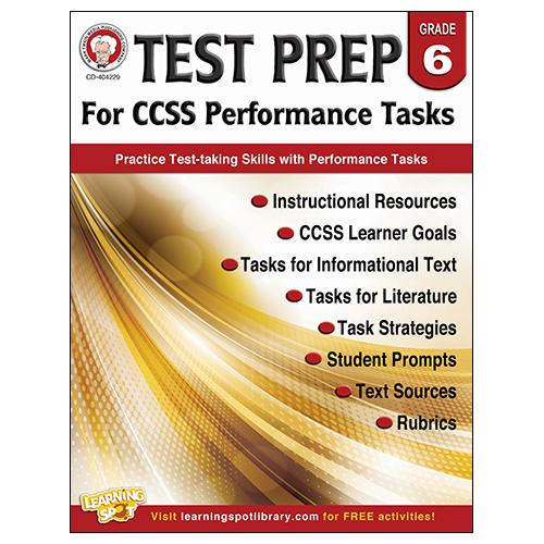 Test Prep for CCSS Performance Tasks Book - Grade 6