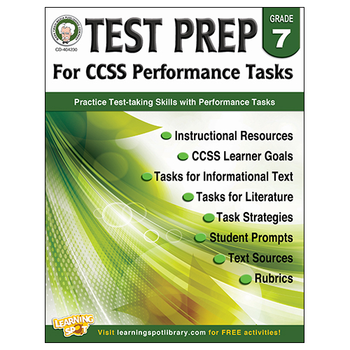 Save 60%   Test Prep for CCSS Performance Tasks Book - Grade 7 - CLEARANCE