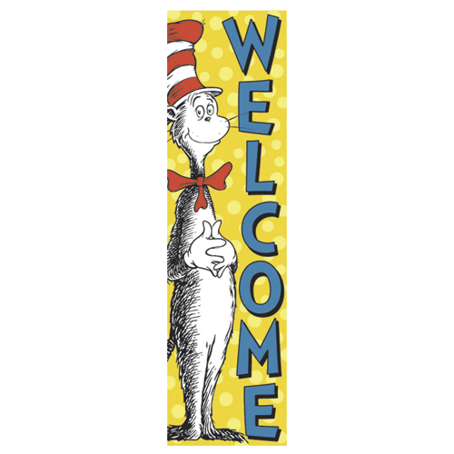 Dr. Seuss™ The Cat in the Hat™ Welcome Vertical Banner