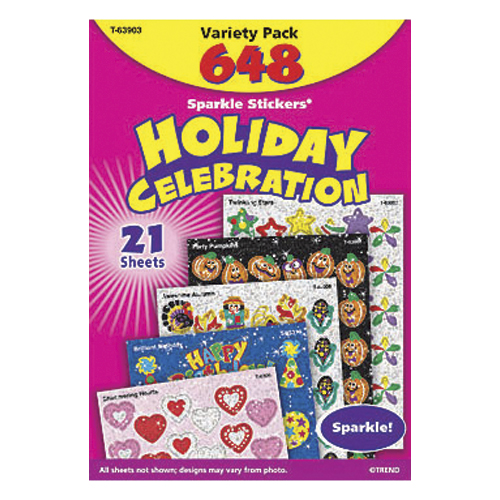 Save 60%   Stickers Assortment Pack - Holiday Celebration Sparkle - CLEARANCE