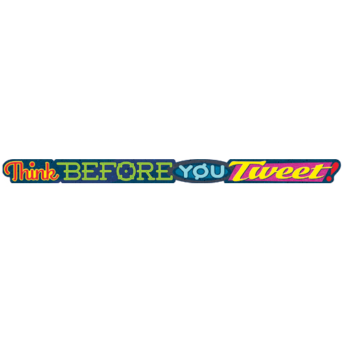 Think Before You Tweet! Quotable Expressions® Banner - CLEARANCE -  Save 60%