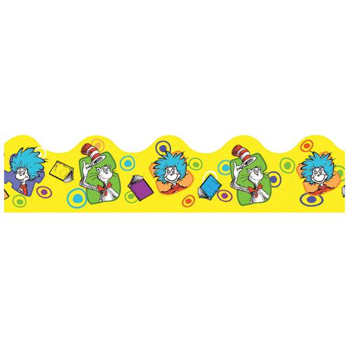 Dr. Seuss™ Yellow Books & Bubbles Wide Deco Trim®