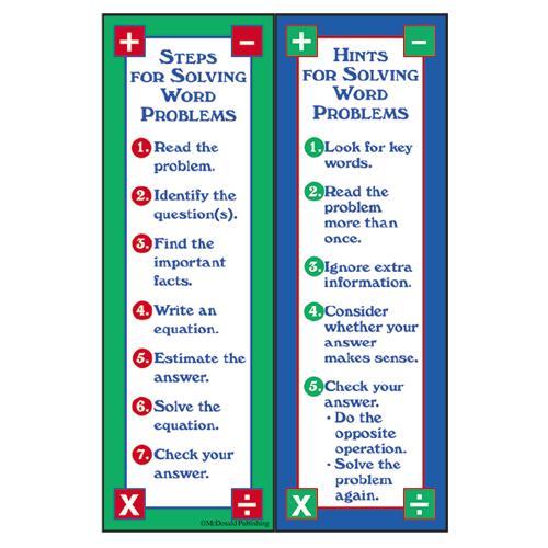 Solving Word Problems Smart Bookmarks - 36/Pkg