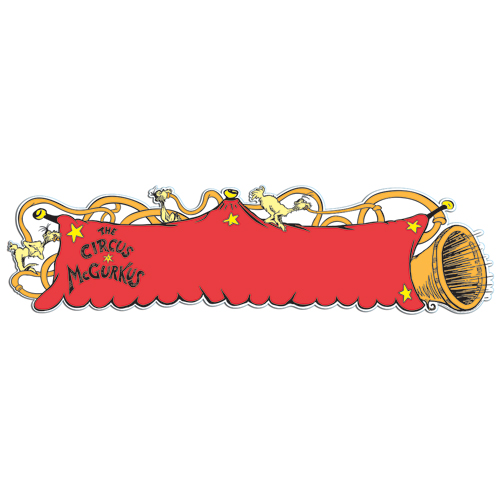 Save 60%   Dr. Seuss™ If I Ran the Circus Horn Horizontal Banner - CLEARANCE