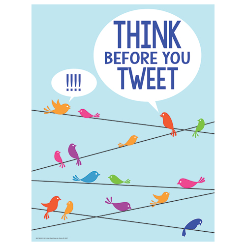 Think Before You Tweet Motivational Poster