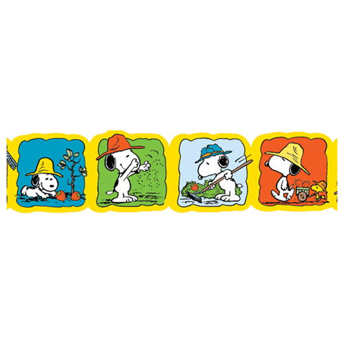 Save 60%   Peanuts® Snoopy's® Spring Strawberry Patch Wide Deco Trim® - CLEARANCE