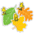 Peanuts® Woodstock & Fall Leaves Assorted Paper Cut-Outs - 36/Pkg