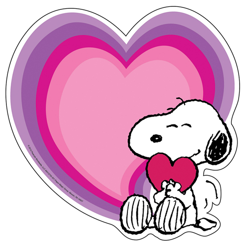 Peanuts® Snoopy's Heart Valentine's Day Paper Cut-Outs - 36/Pkg