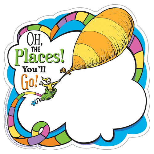Dr. Seuss™ Oh The Places! Paper Cut-Outs - 36/Pkg