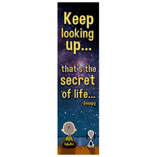 Peanuts® Keep Looking Up Vertical Banner