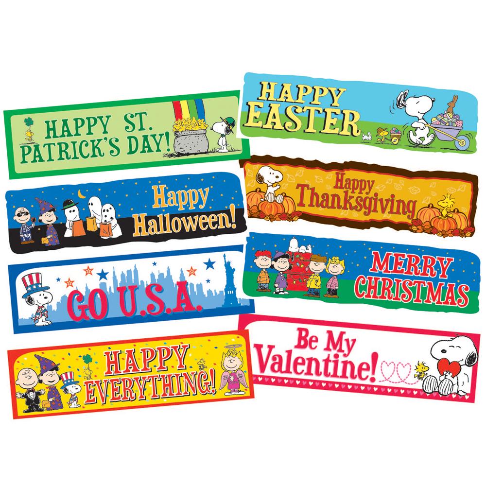 Peanuts® Year of Holidays Mini Banner Set