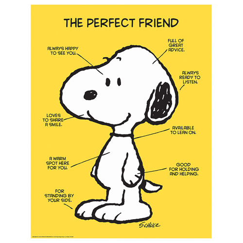 Peanuts® The Perfect Friend Motivational Poster