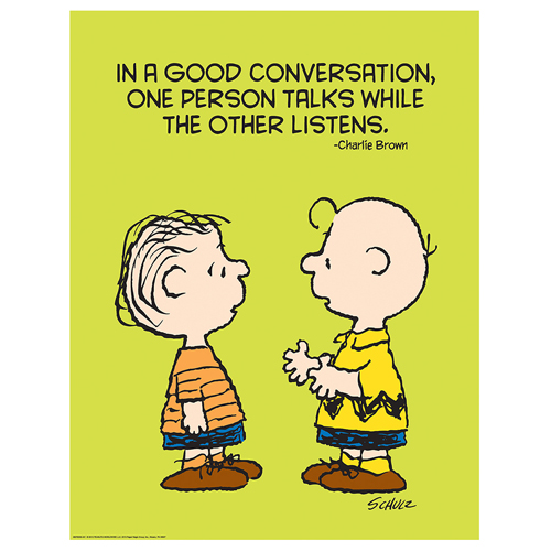 Peanuts® Talk and Listen Motivational Poster