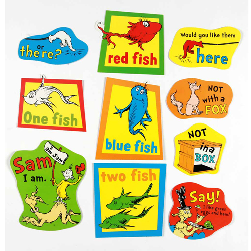Dr. Seuss™ Fish, Fox, and Sam Characters 2-Sided Deco Kit