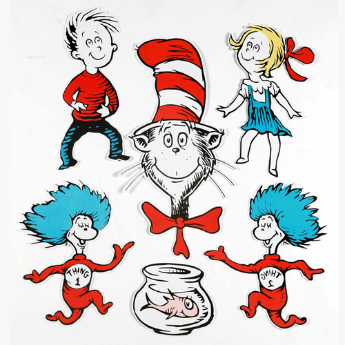 Dr. Seuss™ The Cat in the Hat™ Large Characters 2-Sided Deco Kit