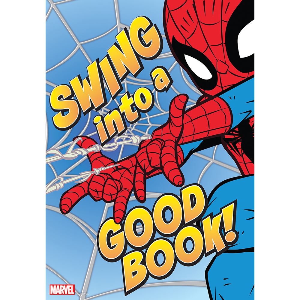 Marvel™ Spider Man Swing Into A Good Book Reading PosterNew!