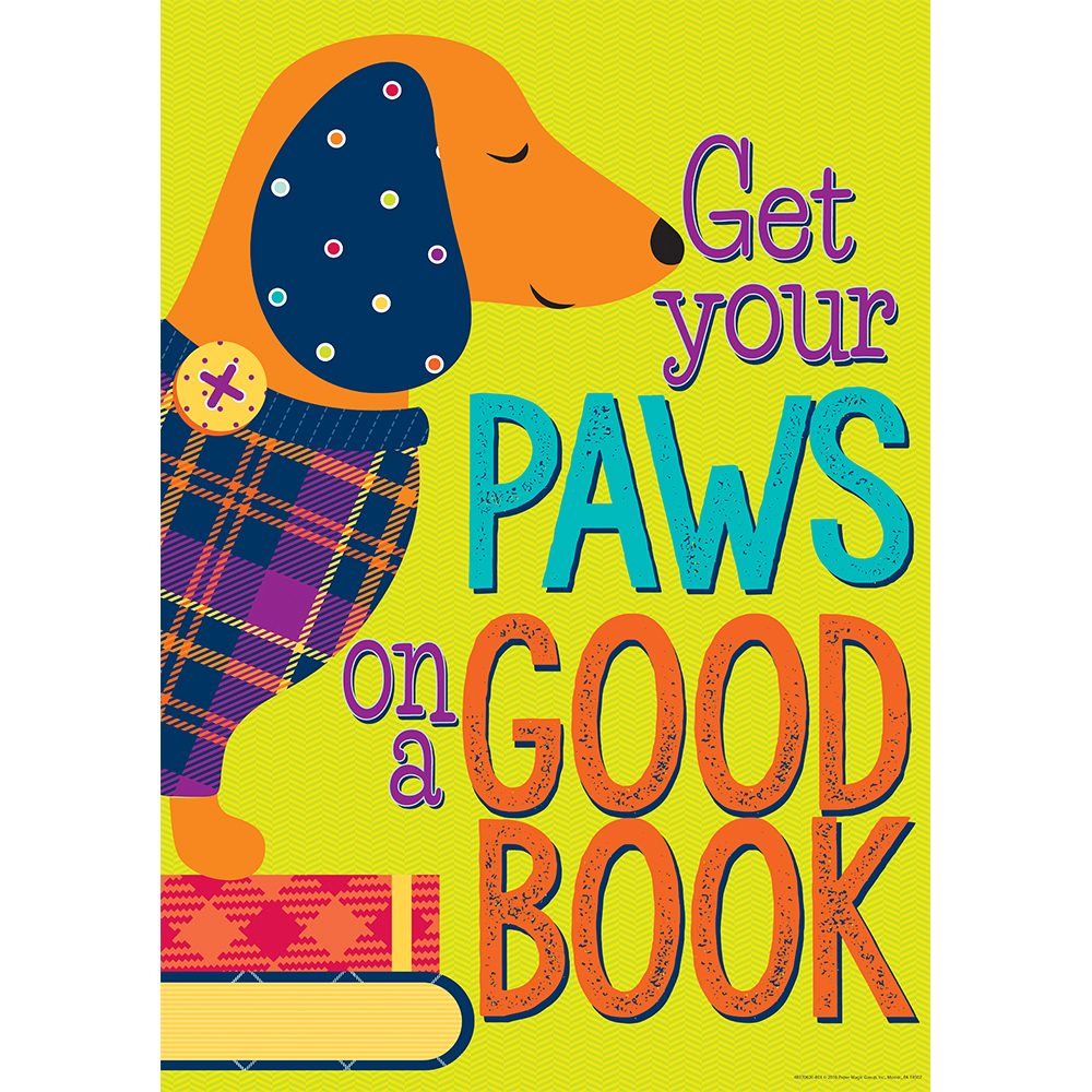 Get Your Paws On A Good Book Reading PosterNew!