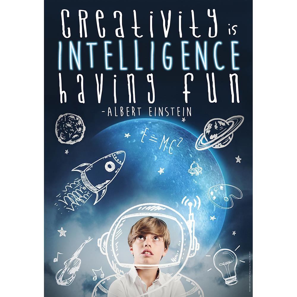 Creativity Is Intelligence Motivational PosterNew!
