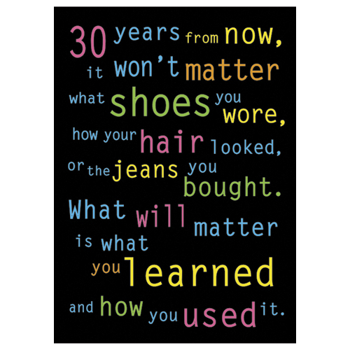 30 Years from Now… Motivational Poster