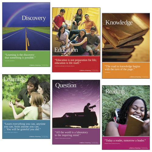 A Lifetime of Learning Laminated Posters - 6/Set