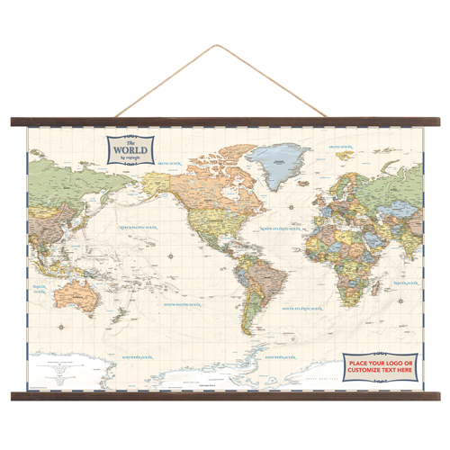 Canvas Wall Map Antique World