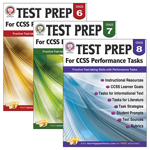 Test Prep for CCSS Performance Tasks Book Series - CLEARANCE