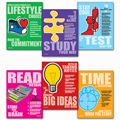Study Success Posters - 6/Set - CLEARANCE