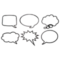 Laminated Speech Bubbles - 12/Pkg