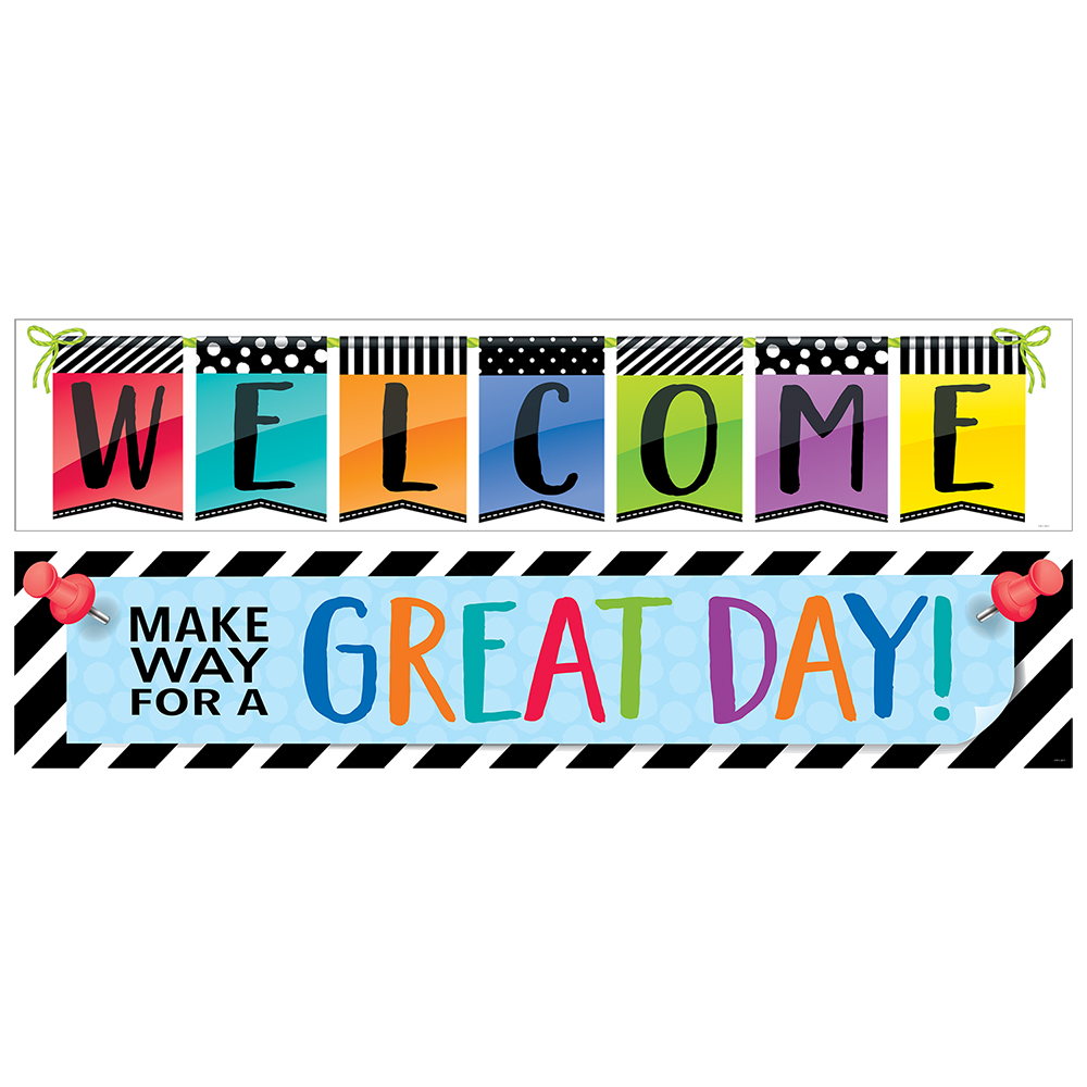 Make Way for a Great Day/ Welcome 2-Sided Horizontal Banner