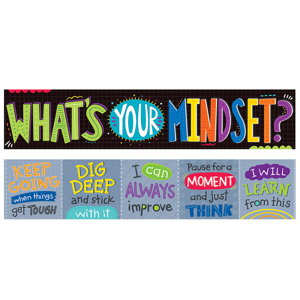 What's Your Mindset? 2-Sided Horizontal Banner