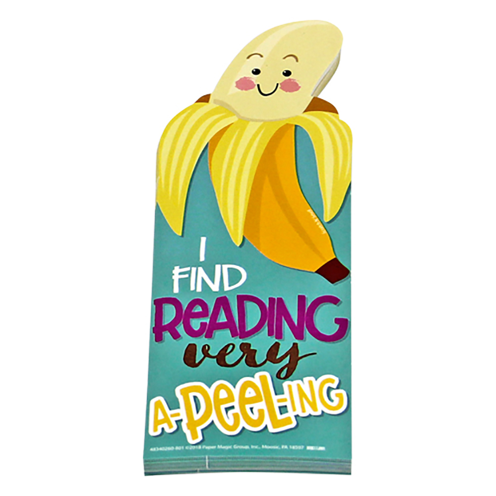 I Find Reading Very A-PeeL-Ing Scented Bookmarks - 24/Pkg