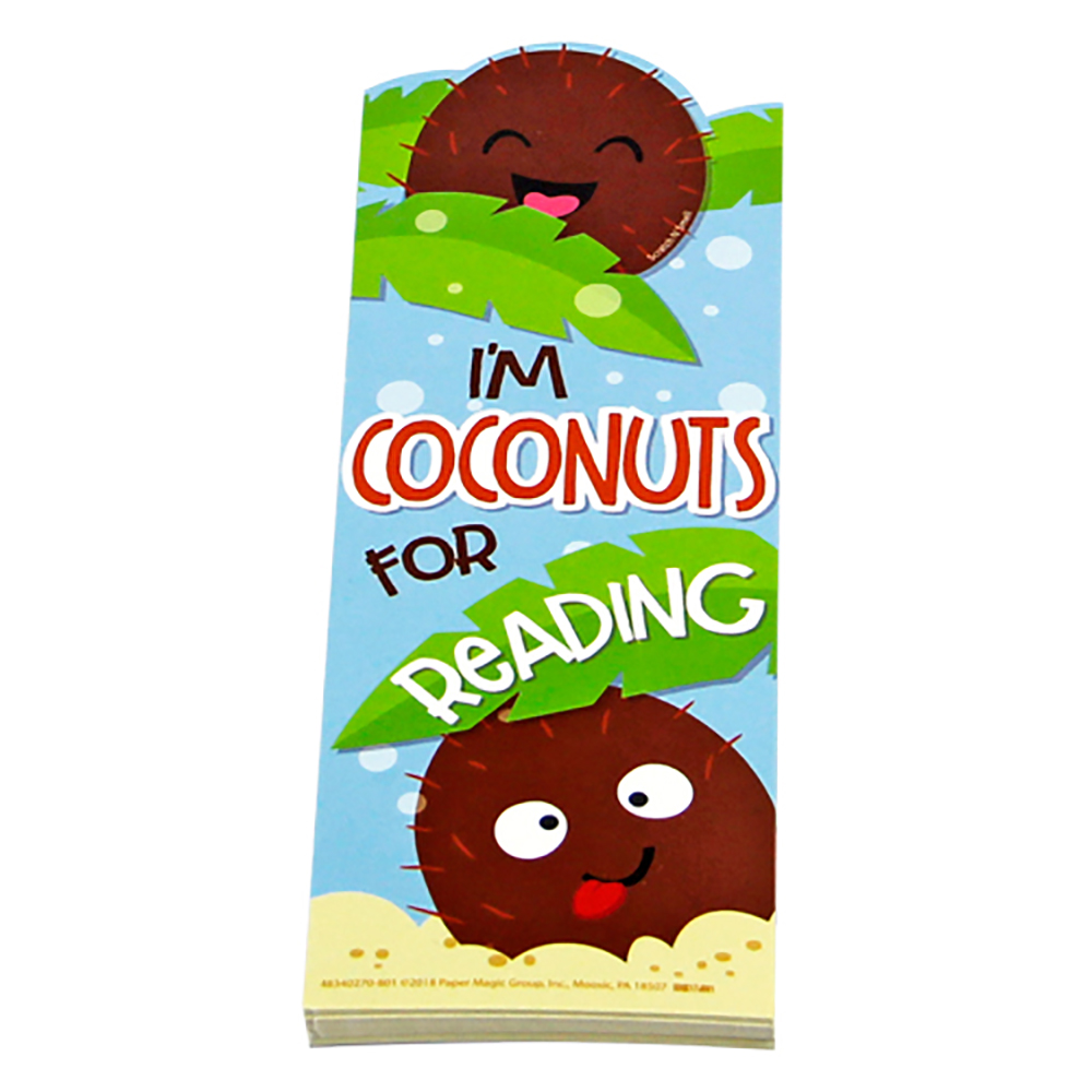 I'm Coconuts For Reading Scented Bookmarks - 24/Pkg