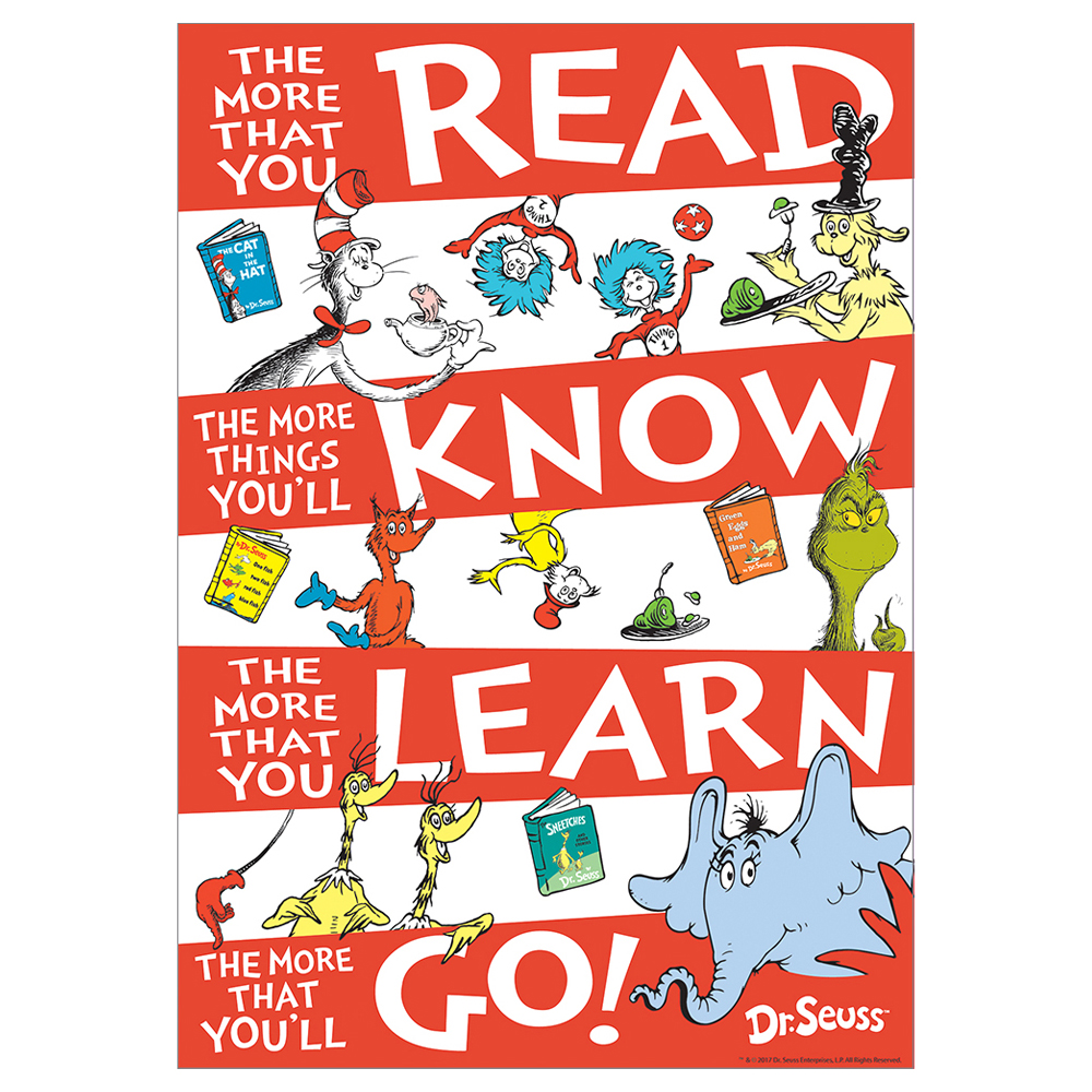 Dr. Seuss™ Read Know Learn Go! Poster