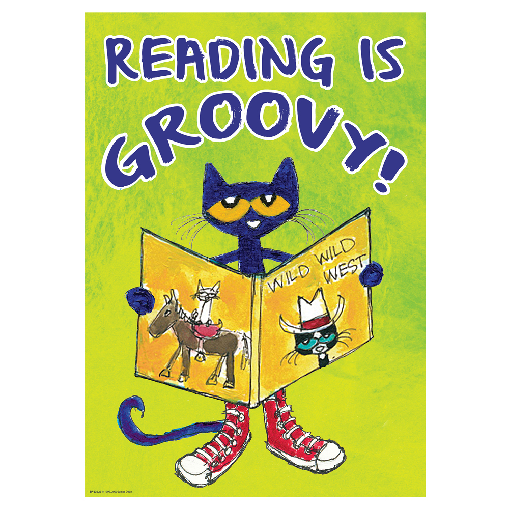 Pete the Cat Reading Is Groovy Poster