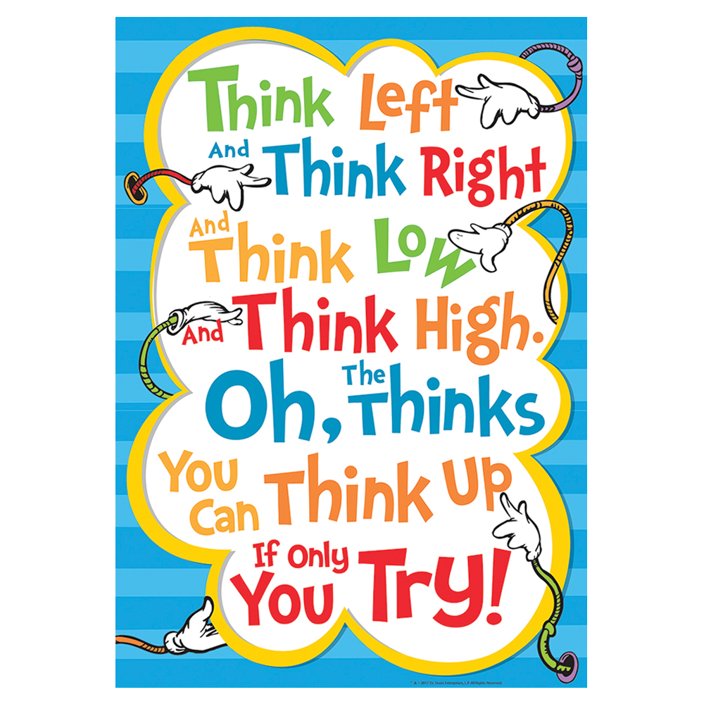 Dr. Seuss™ Think Left Think Right Poster
