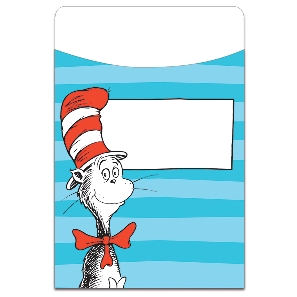 Dr. Seuss Classic Characters Library Pockets - 35/Pkg