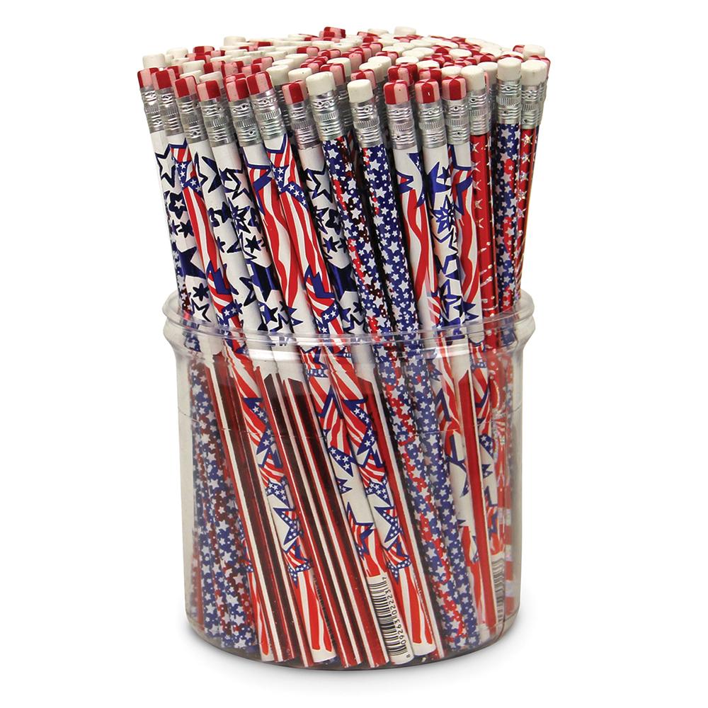 Patriotic Pencil Assortment Tub - 144/Pkg