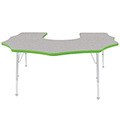 Mahar® Creative Colors Activity Tables - Scalloped Horseshoe 60